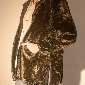 Vintage Silk Crushed Velvet Coat